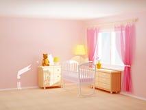 婴孩室摇篮 向量例证