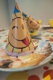 婴孩帽子为一个生日 免版税库存图片
