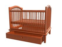 婴孩床,抽屉Open_Raster 图库摄影