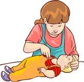 婴孩急救 免版税库存图片
