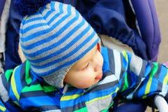 婴孩愉快的雪 图库摄影