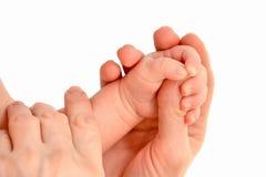 婴孩手 免版税库存照片