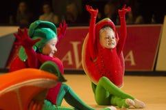 婴孩杯子2013年rhythmics比赛在米斯克,白俄罗斯 免版税库存照片