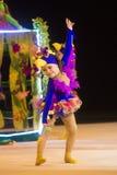 婴孩杯子2013年rhythmics比赛在米斯克,白俄罗斯 免版税库存图片