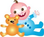 婴孩熊男孩女用连杉衬裤 图库摄影