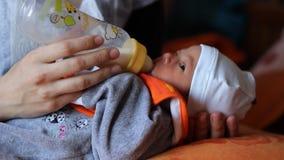 婴孩牛奶膳食时间 影视素材