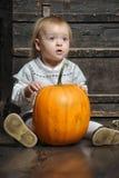 婴孩用南瓜 免版税库存照片