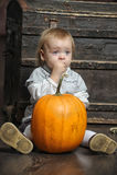 婴孩用南瓜 免版税库存图片