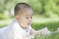 婴孩的特写镜头画象  免版税库存图片