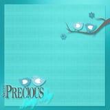 婴孩的甜背景的蓝色鸟 库存例证