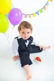 婴孩的第一个生日一年。 免版税图库摄影