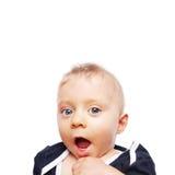 婴孩的第一颗牙 库存图片