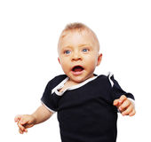 婴孩的第一颗牙 免版税库存图片