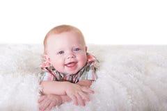 婴孩的纵向 免版税库存照片