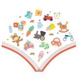 婴孩的画书 图库摄影