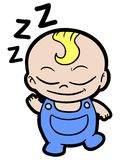 婴孩睡眠 图库摄影