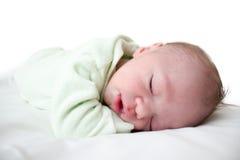 婴孩睡觉 免版税图库摄影