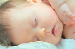 婴孩睡觉 图库摄影