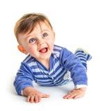 婴孩笑 免版税库存照片