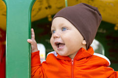 婴孩纵向微笑 库存图片