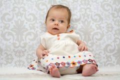 婴孩美丽的女孩一点 免版税库存图片