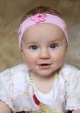 婴孩美好微笑 库存图片