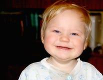 婴孩美好微笑 免版税库存照片