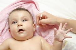 婴孩耳朵 库存照片
