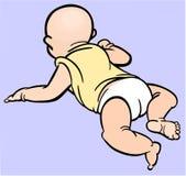 婴孩肚子时间 库存例证