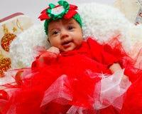 婴孩背景圣诞节查出在白色 免版税库存图片
