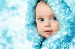 婴孩背景圣诞节查出在白色 库存图片