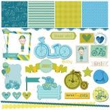 婴孩自行车集合 免版税库存照片