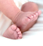 婴孩英尺 库存照片