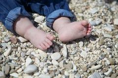 婴孩英尺 免版税库存照片