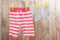 婴孩衣物 图库摄影