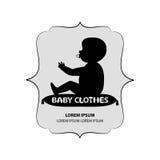 婴孩衣裳牌或商标  库存照片