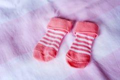婴孩袜子 免版税库存图片