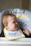 婴孩被喂养女孩 免版税库存照片