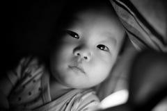 婴孩观看 库存照片