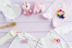 婴孩设备 免版税库存照片