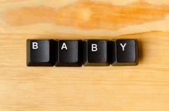 婴孩词 库存图片
