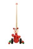 婴孩轮子的玩具小丑 免版税库存照片