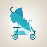 婴孩运输 摇篮车 免版税库存照片