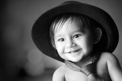 婴孩逗人喜爱微笑 库存照片