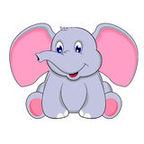 婴孩逗人喜爱的大象 免版税库存图片