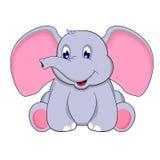 婴孩逗人喜爱的大象 库存照片