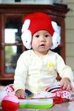 婴孩逗人喜爱的女婴画象 库存照片