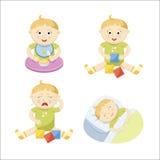 婴孩集合 免版税库存照片
