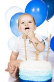 婴孩非凡的蛋糕 免版税库存图片