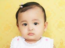 婴孩面孔 免版税库存图片